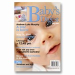 Baby's Digest Magazine Cover Birth Announcement
