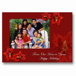 Poinsettia Holiday Photo Card
