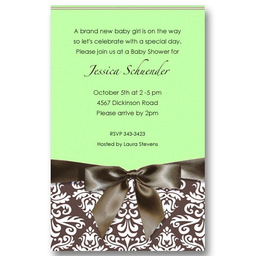 green baby shower invitations