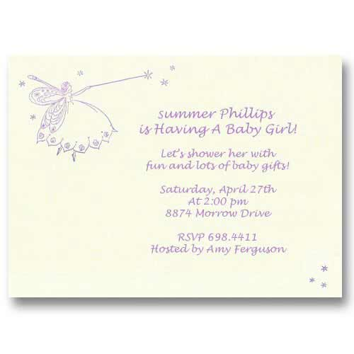 Fairy Baby Shower Invitation