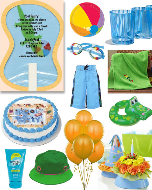 pool birthday invitations