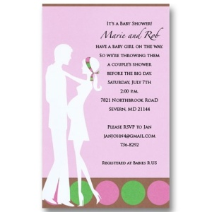 Pink Expecting Couples Baby Shower Invitations