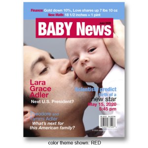 "Baby News"" Magazine Cover Birth Announcements"