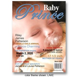 """Baby Prince"" Magazine Cover Birth Announcements"