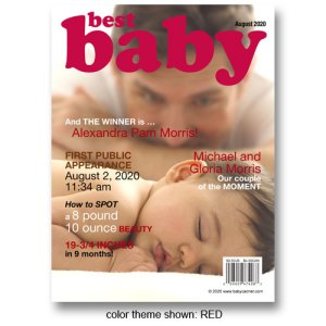 """Best Baby"" Magazine Cover Birth Announcements"