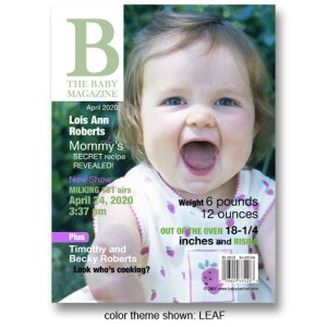 "B - The Baby Magazine"" Cover Birth Announcements"