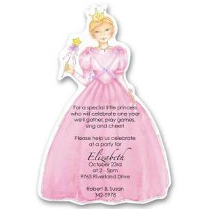 Pink Party Princess Birthday Invitations
