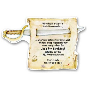 Pirate Treasure Birthday Invitations