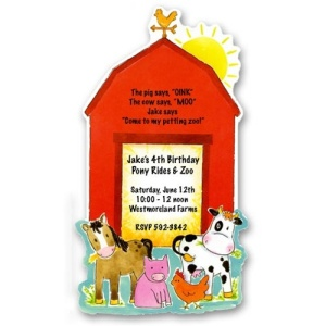 Barnyard Farm Birthday Invitations