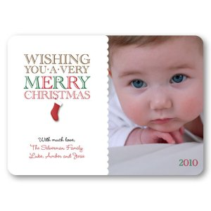 Christmas Stocking Holiday Photo Cards