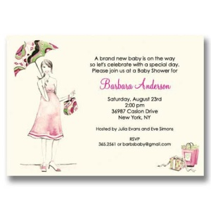 Beautiful Mom Baby Shower Invitations