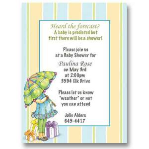 Raining Gifts Baby Shower Invitations