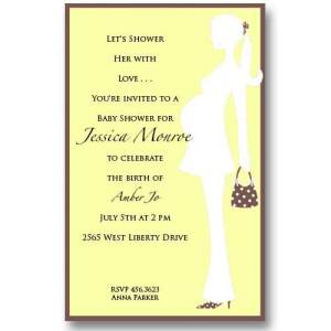 Yellow Expecting Baby Shower Invitations
