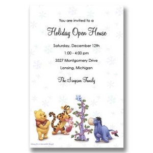 Pooh Friends Christmas Invitations