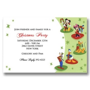 Mickey Friends Christmas Invitations