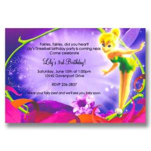 Disney Magical Tinker Bell Birthday Invitations