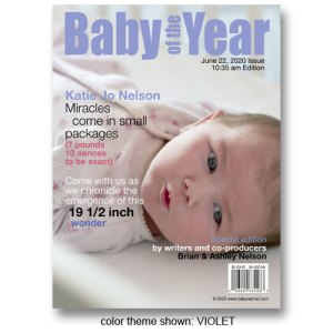 """Baby of the Year"" Magazine Cover Birth Announcements"