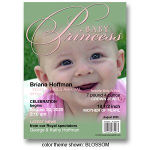"""Baby Princess"" Magazine Cover Birth Announcements"