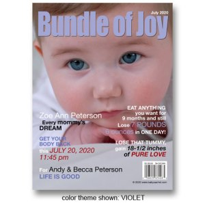 """Bundle of Joy"" Magazine Cover Birth Announcements"