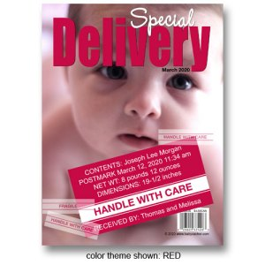 """Special Delivery"" Magazine Cover Birth Announcements"