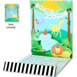 Pop-up Jungle Animals Birthday Invitations