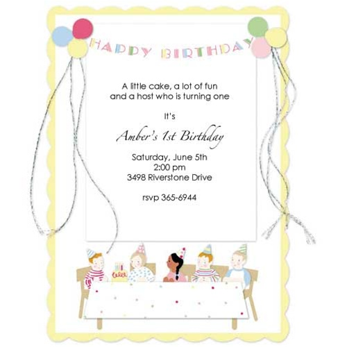 Happy Birthday Party Invitations