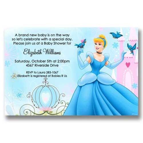 Cinderella Carriage Baby Shower Invitations