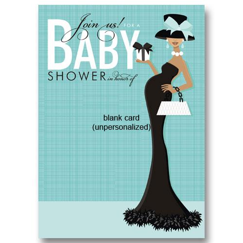 Posh African American Baby Shower Invitations