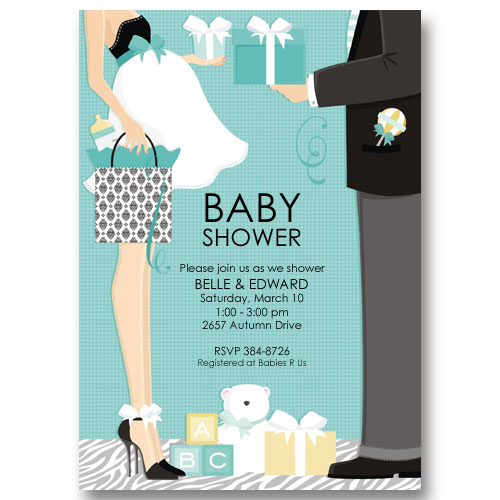 Expectant Couple Baby Shower Invitations