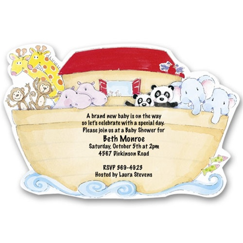 Baby Animals Noah's Ark Baby Shower Invitations