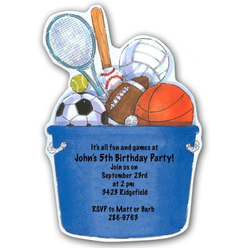 All Star Sports Birthday Invitations