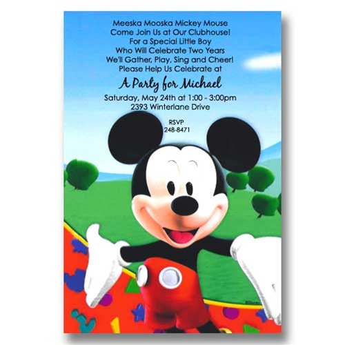 Disney Mickey Clubhouse Birthday Invitations