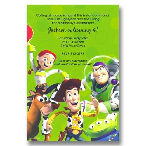Disney Toy Story Birthday Invitations