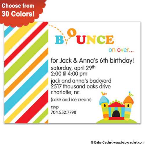 Bounce Birthday Invitations