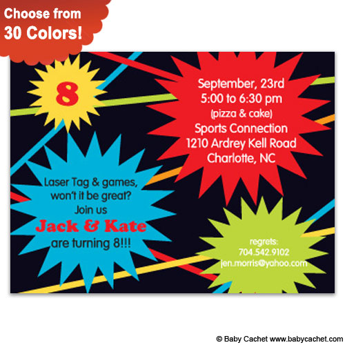 Ka-Pow Birthday Invitations