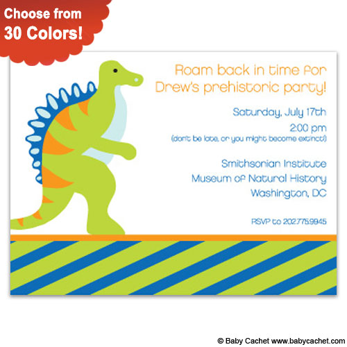 Dino Birthday Invitations