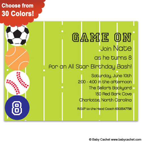 Awesome Athlete Birthday Invitations