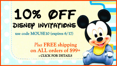 10% off all disney invitation