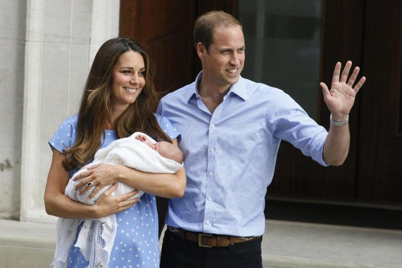 Kate, William, Baby George Alexander Louis