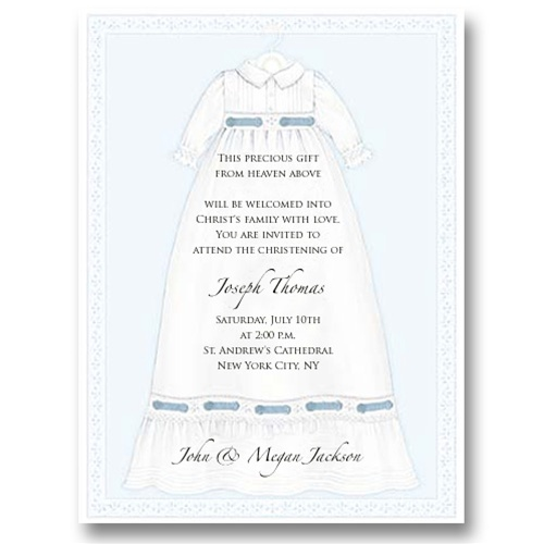 MDIC0067 baptism gown invitation