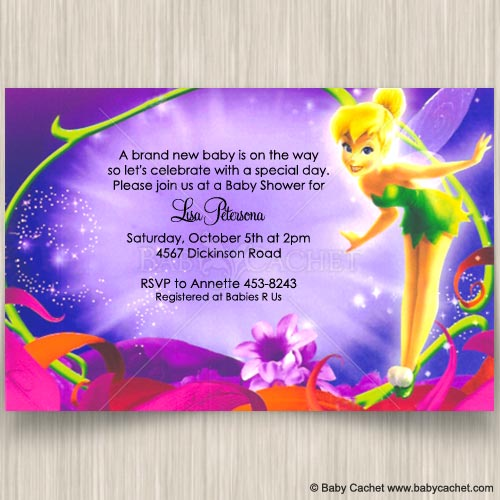 Magical Tinker Bell Baby Shower Invitations