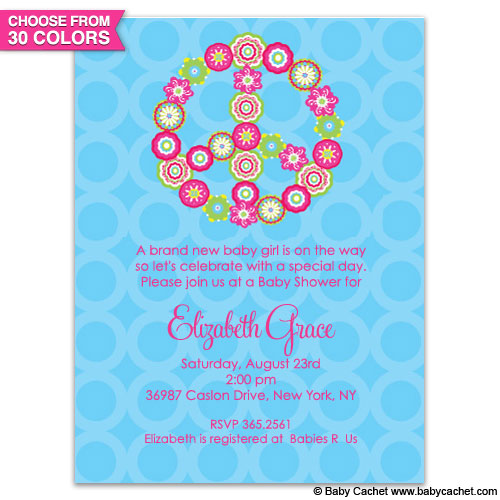 Flower Child Baby Shower Invitations